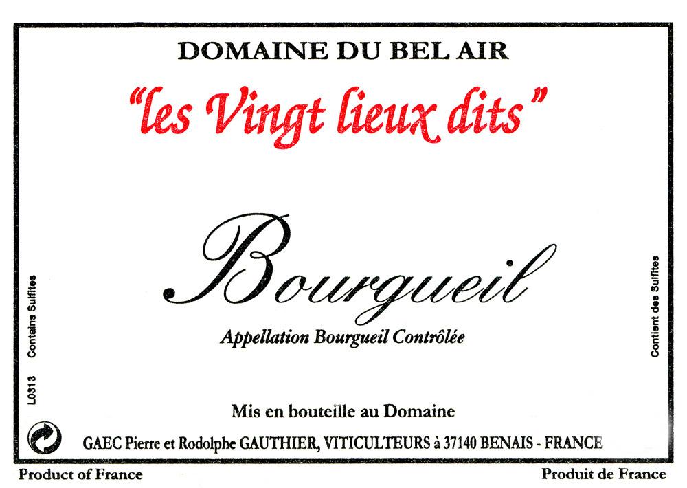 Cuvée les vingt lieux dits-Bourgueil