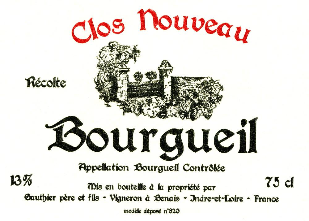 cuvée clos-nouveau-Bourgueil