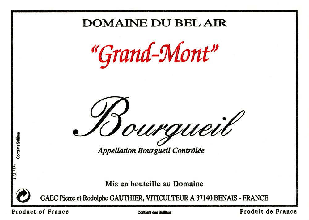 cuvée du grand-mont-Bourgueil